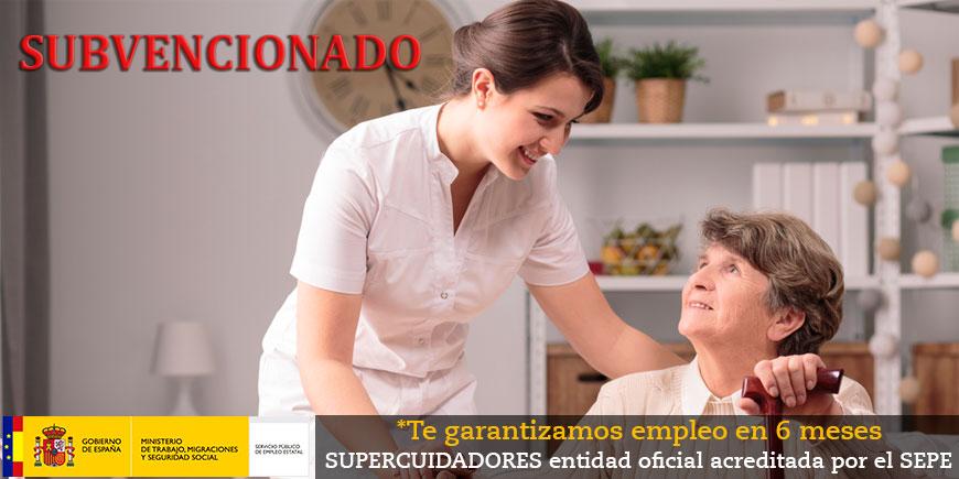 SUBVENCIONADO - SSCS0108: Certificado de profesionalidad en atención sociosanitaria a personas  en el domicilio. OFICIAL y OBLIGATORIO